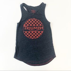 Lucky Brand Triumph Motorcycle Colab Tank Top SZ S